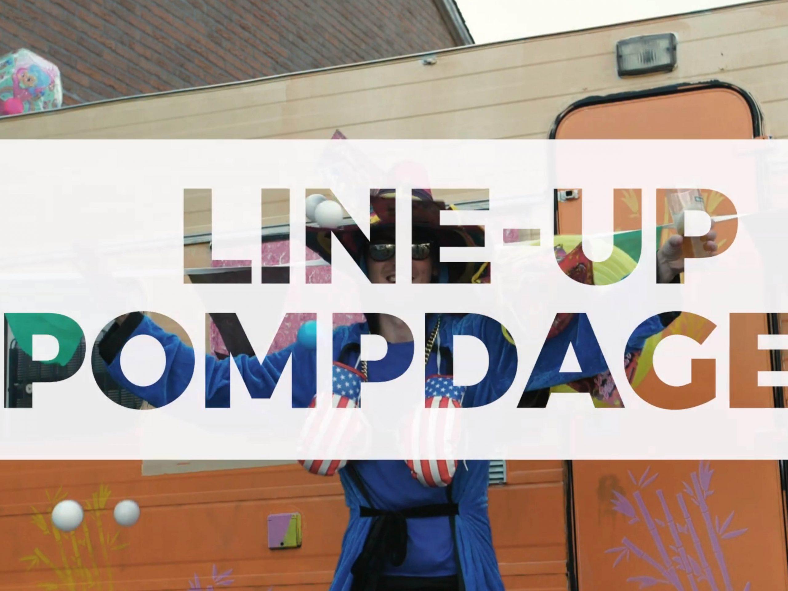 line up promotievideo evenement pompdagen