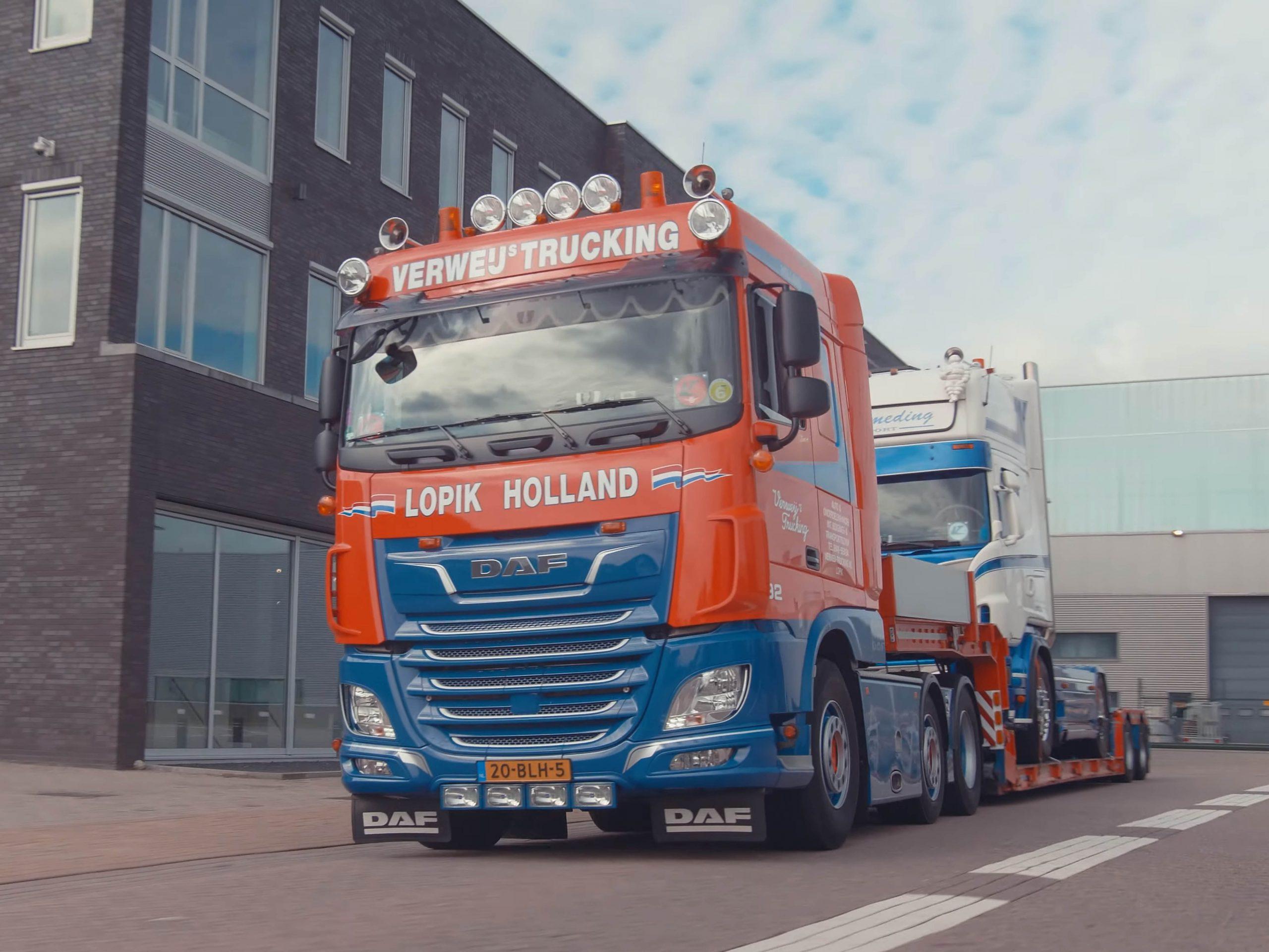commercial promotiefilm verweij trucking lopik vrachtwagen daf