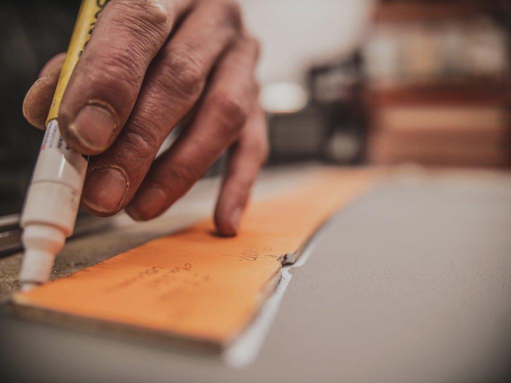 close up bedrijfsfotografie mallen maken en aftekenen