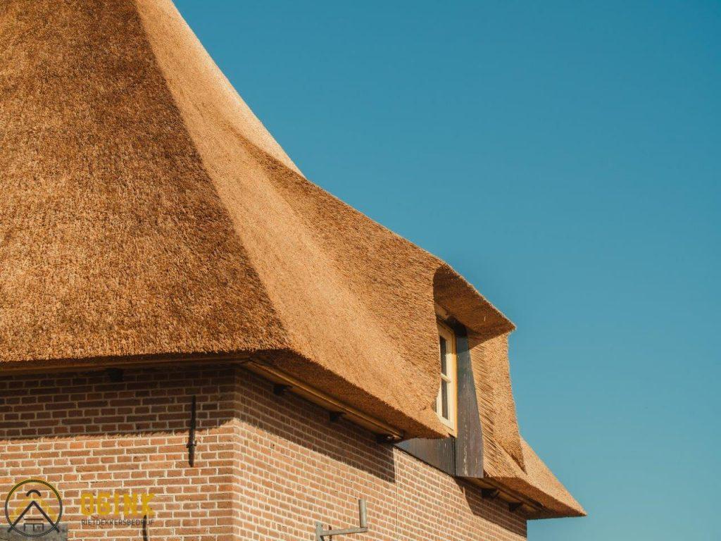 close up rieten kap huis