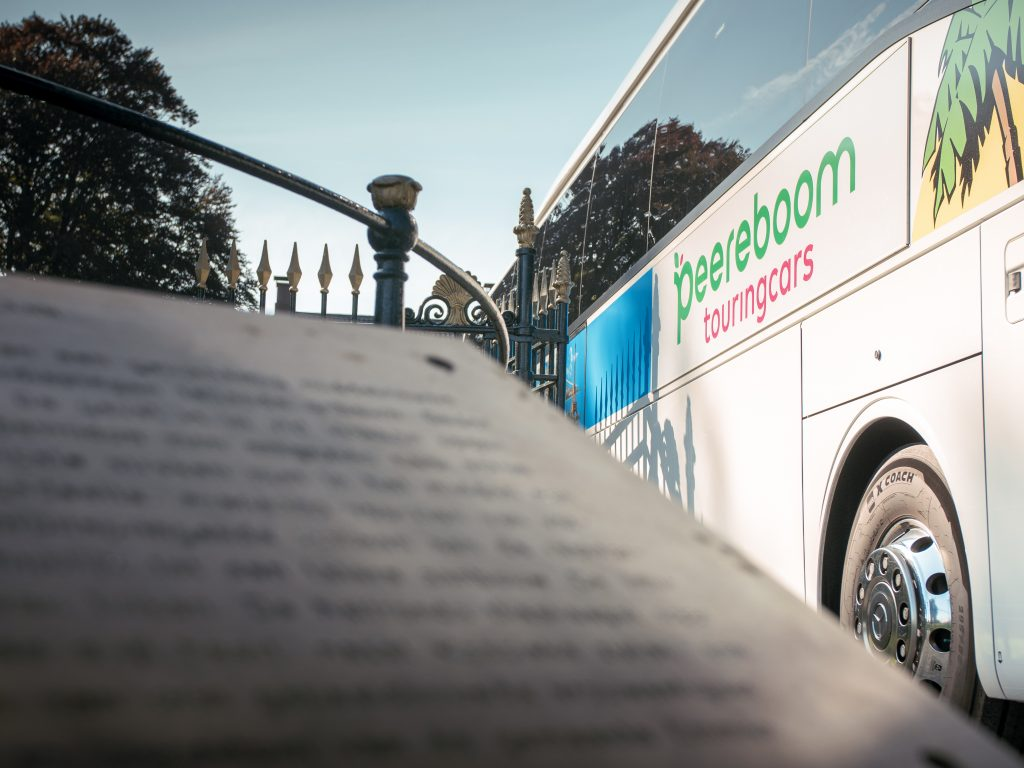 Peereboom touringcars bus closeup fotografie