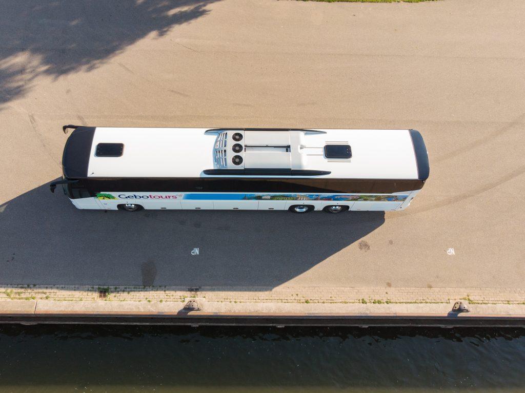 top view touringcar bus gebo tours automotive